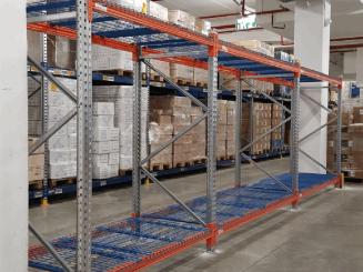 מדפים לאחסון כבד למחסן