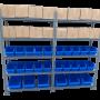 מדפים למחסן לאחסנה קלה