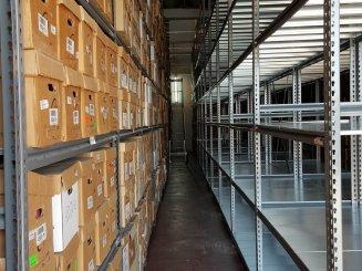 מגוון רחב של מדפים למחסן